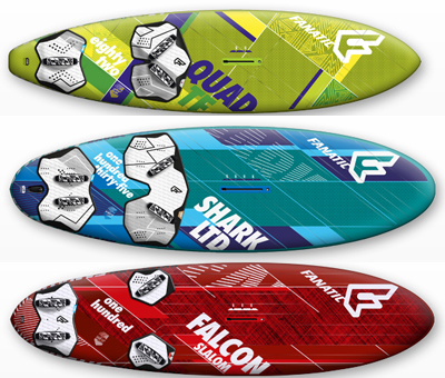 windsurf materiaal tunen fanatic boards voetbanden