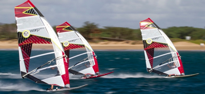 Soorten windsurf materiaal Leer windsurfen fanatic north sails slalom