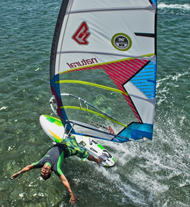 beginner windsurf materiaal Windsurfschool leerwindsurfen North Sails Natural